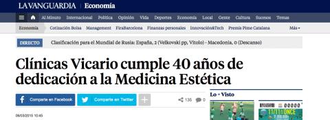 Clínicas Vicario cumple 40 años de dedicación a la Medicina Estética