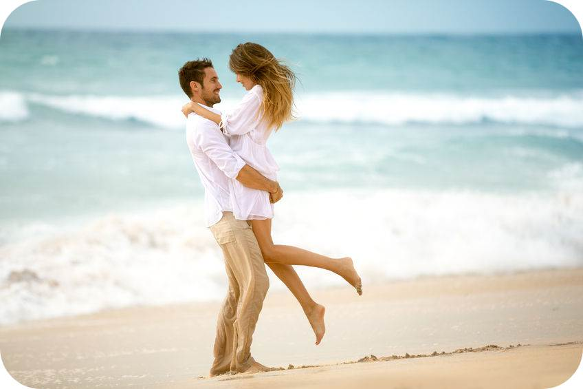 47341241 - couple in love on beach, romantic vacation
